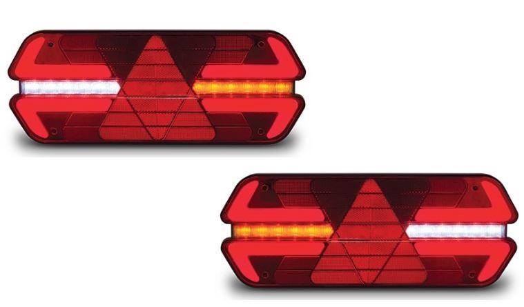 Lanterna Traseira Carreta Triplo X Led 24V - Par