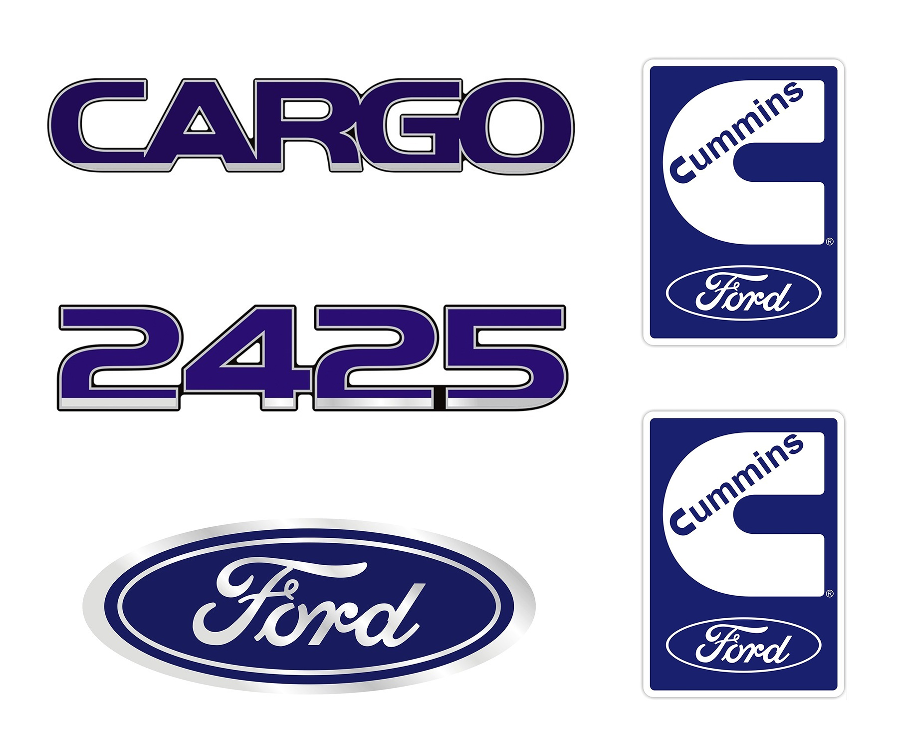 Emblema Ford Cargo 2425 Cummins - Kit