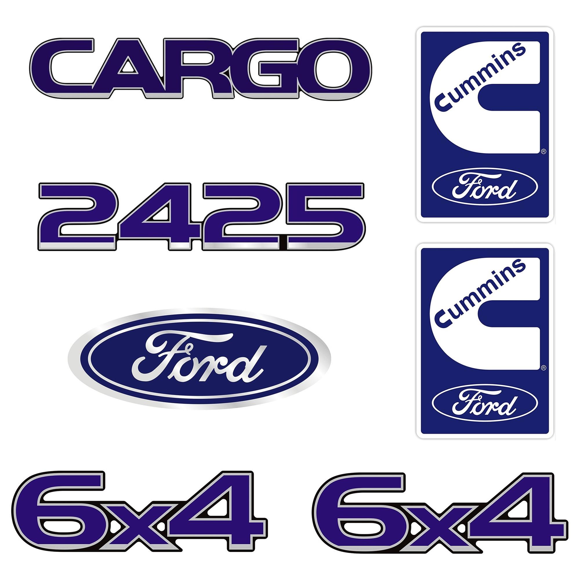 Emblema Ford Cargo 2425 6X4 Cummins - Kit