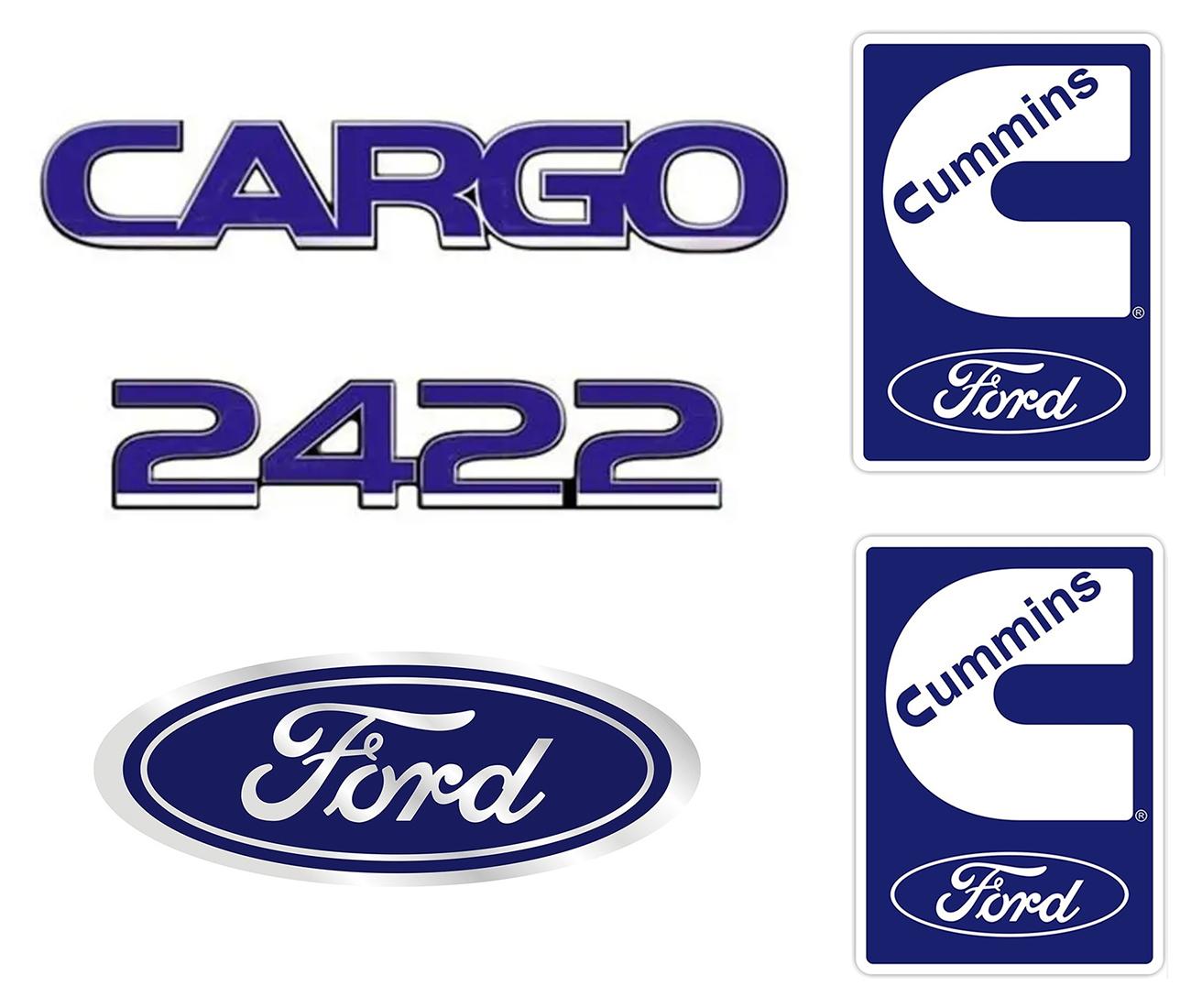 Emblema Ford Cargo 2422 Cummins - Kit