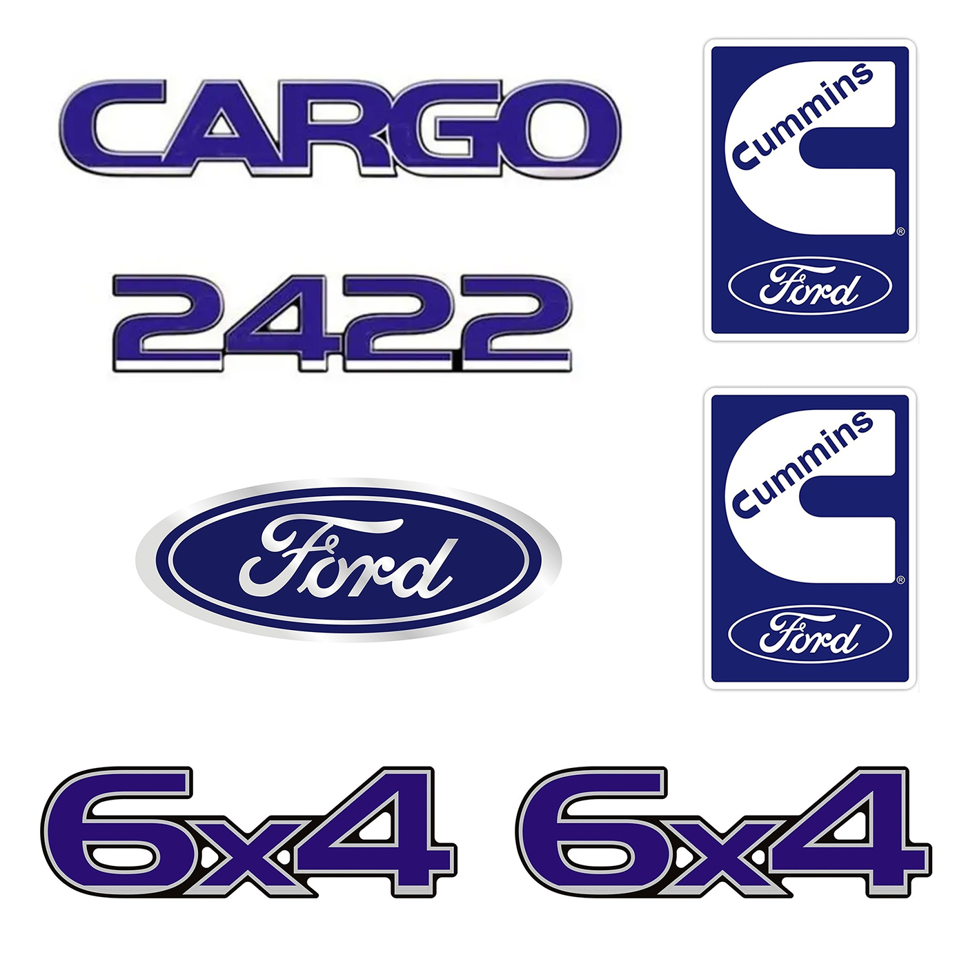 Emblema Ford Cargo 2422 6X4 Cummins - Kit