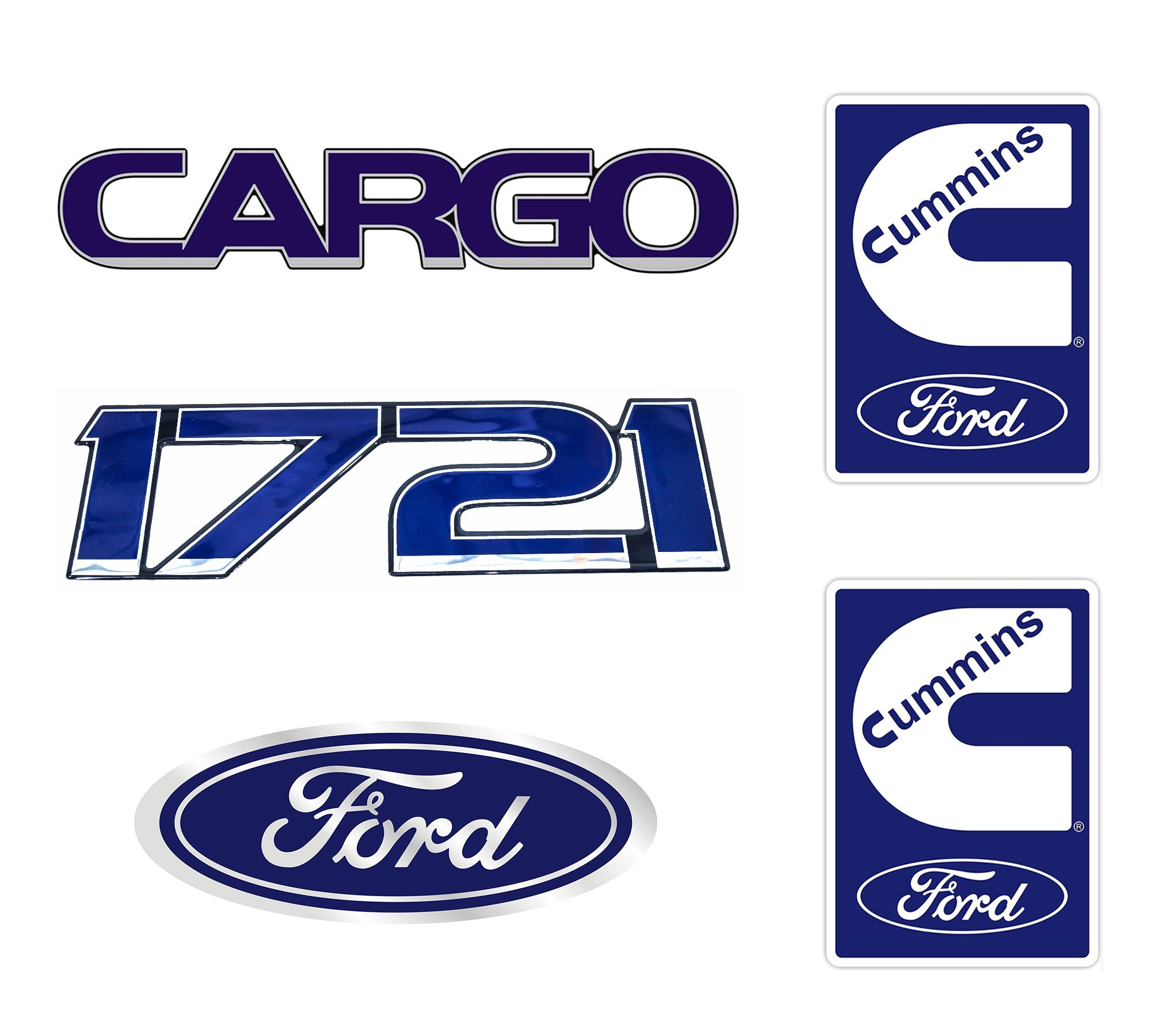 Emblema Ford Cargo 1721 Cummins - Kit