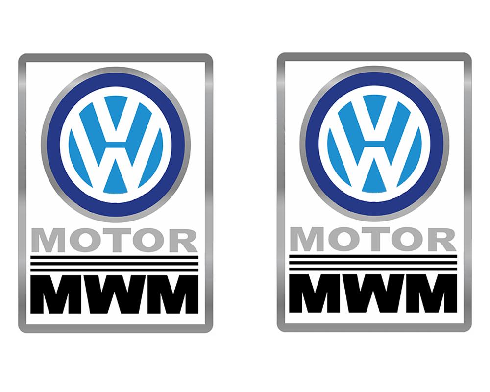 Emblema Mwm Caminhão Vw - Par