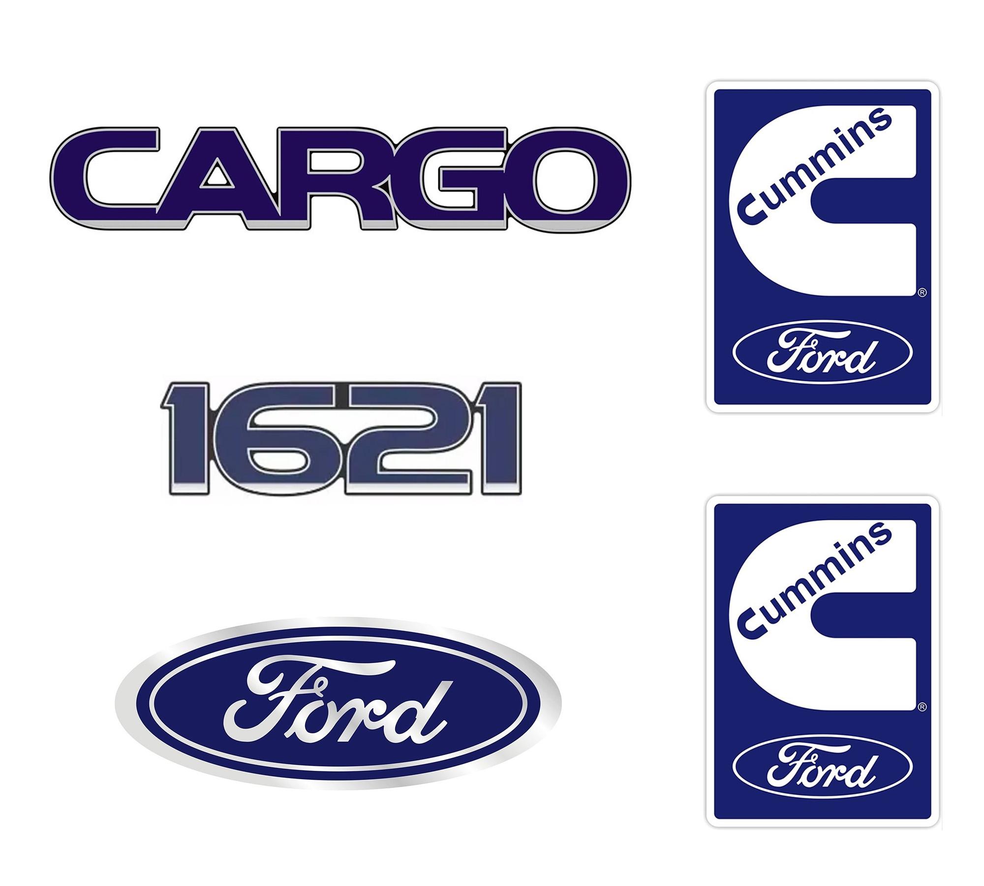 Emblema Adesivo Ford Cargo 1621 Cummins Kit