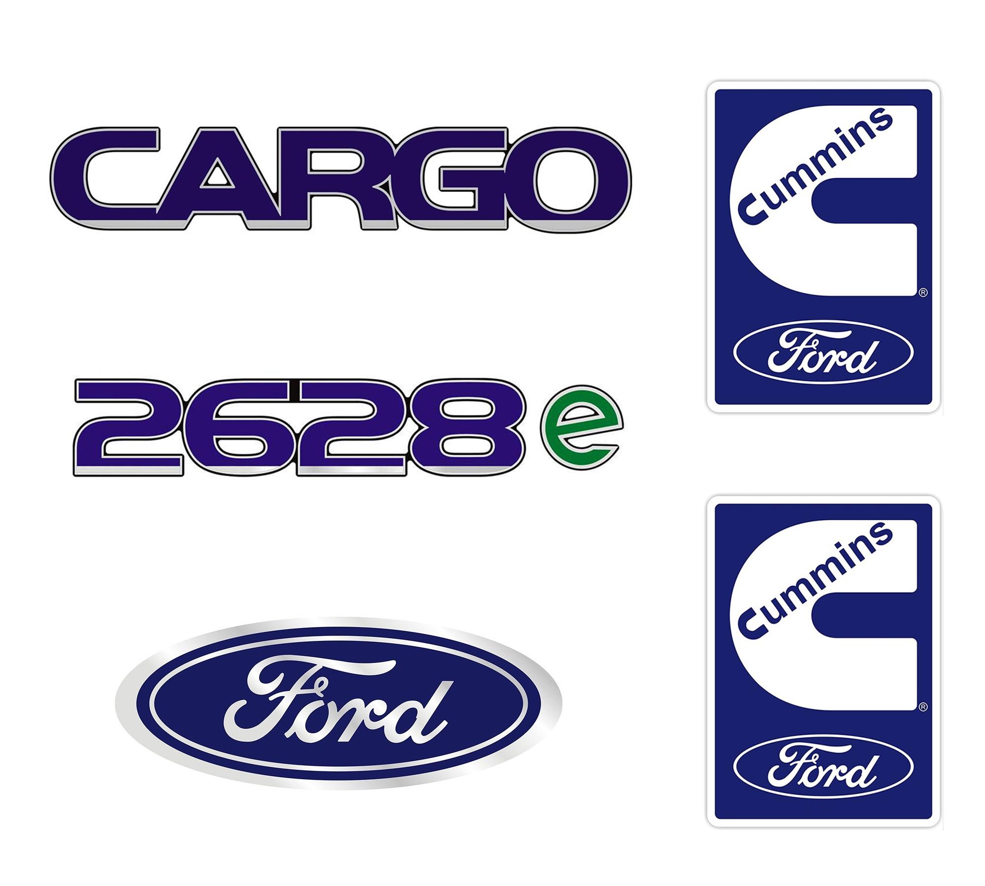 Emblema Ford Cargo 2628E Cummins - Kit