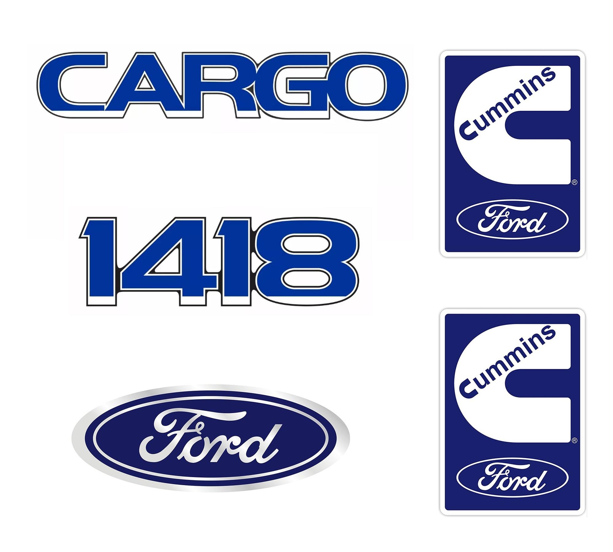 Emblema Ford Cargo 1418 Cummins Kit