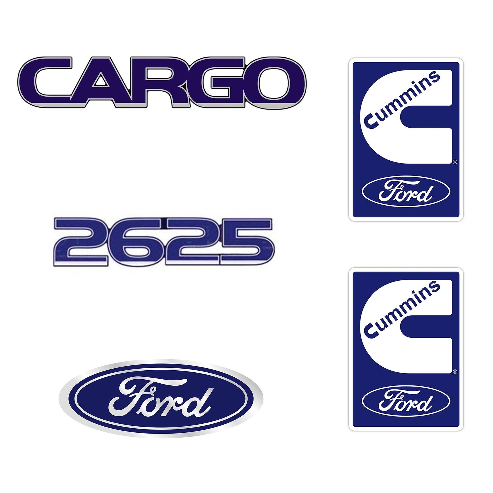 Emblema Ford Cargo 2625 Cummins - Kit