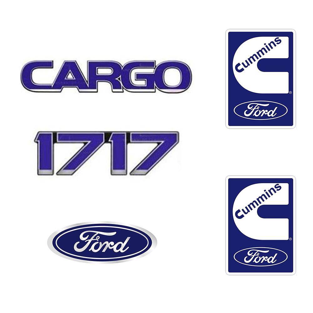 Emblema Ford Cargo 1717 Cummins - Kit