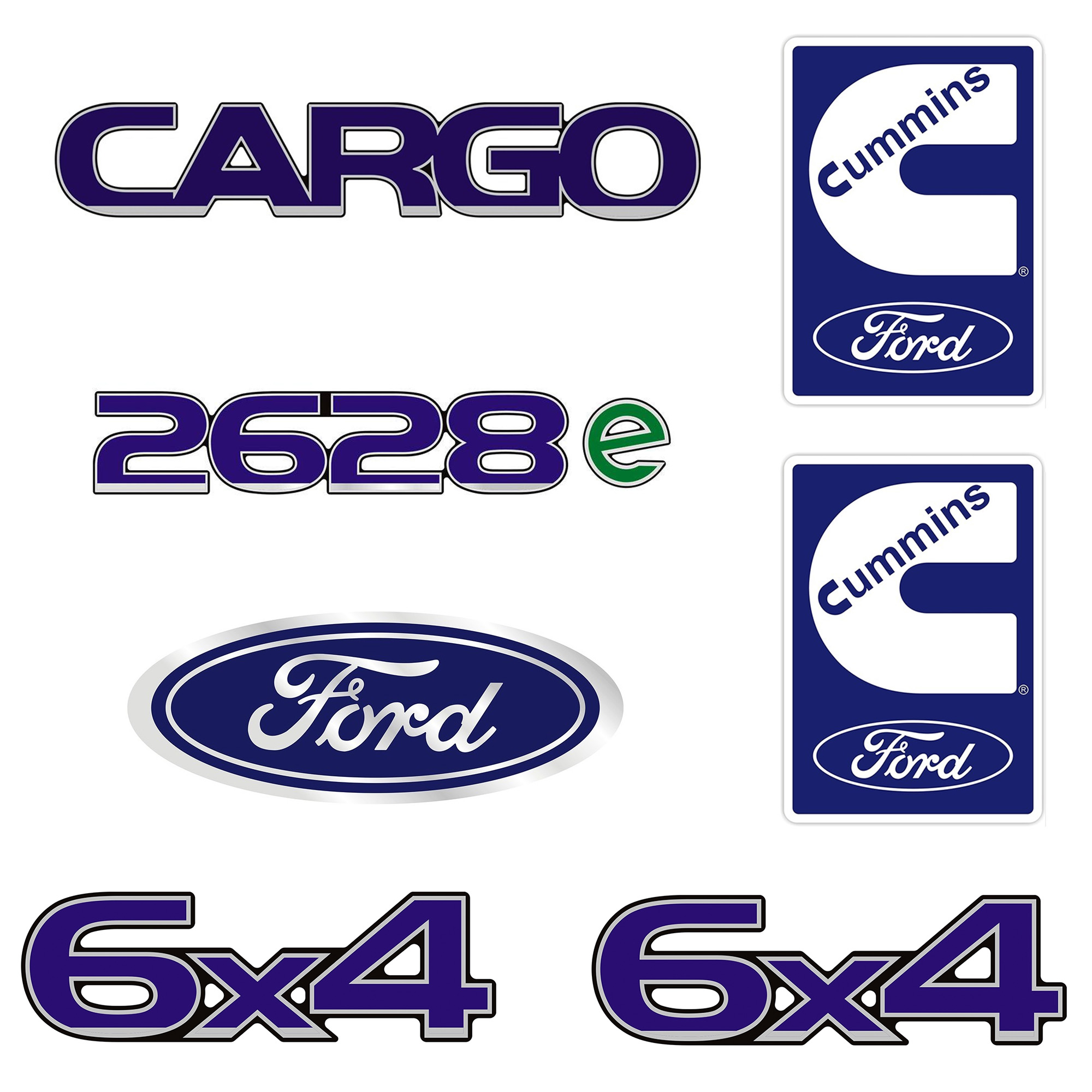 Emblema Ford Cargo 2628E 6X4 Cummins - Kit