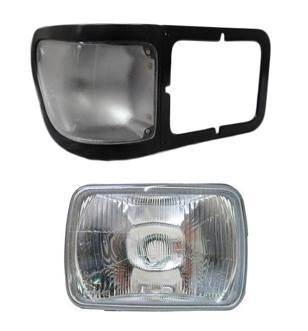 Farol Ford Pitbul F12000 F14000 F16000 De 1999 A 2005 Com Lanterna Seta - Cristal Direito