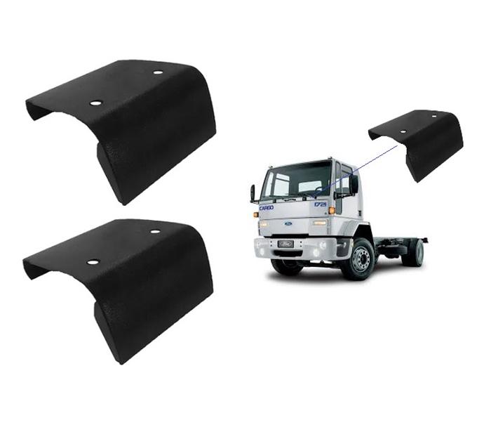 Acabamento Dobradiça Capô Ford Cargo Até 2012 (Cabine Antiga) - Par