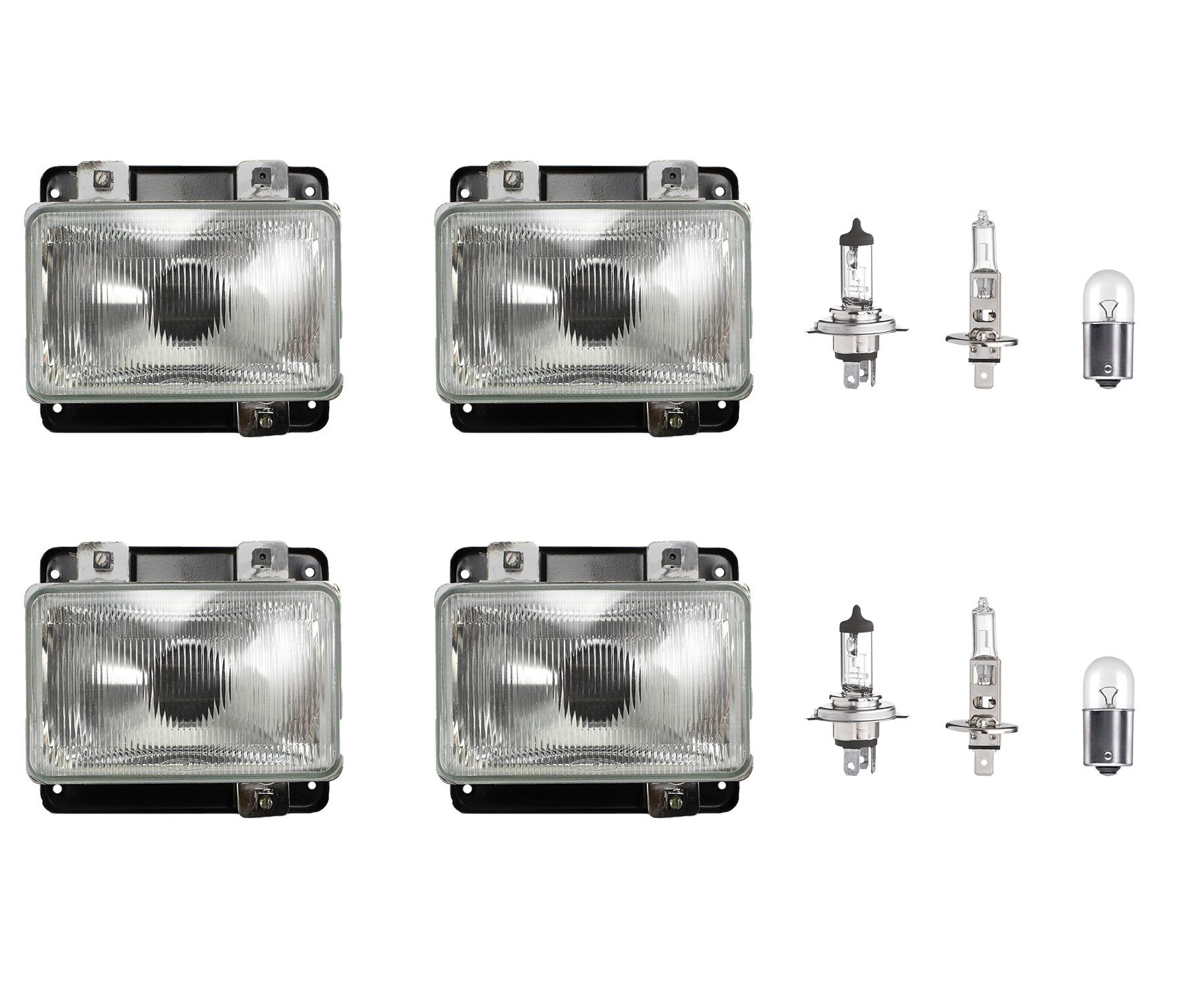 Farol Mb 1214 1418 1618 1630 1935 1941 Bicudo Com Lâmpadas 24V - Kit