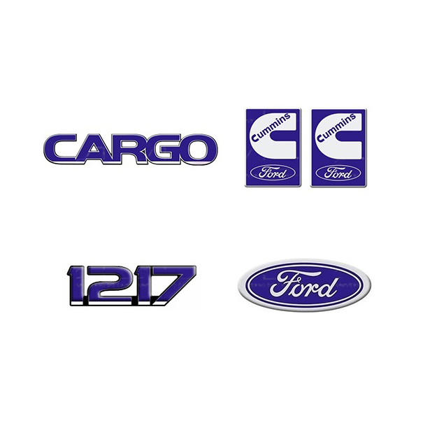 Emblema Ford Cargo 1217 Cummins - Kit
