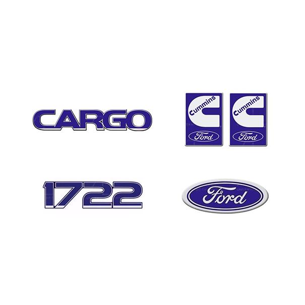 Emblema Ford Cargo 1722 Cummins - Kit