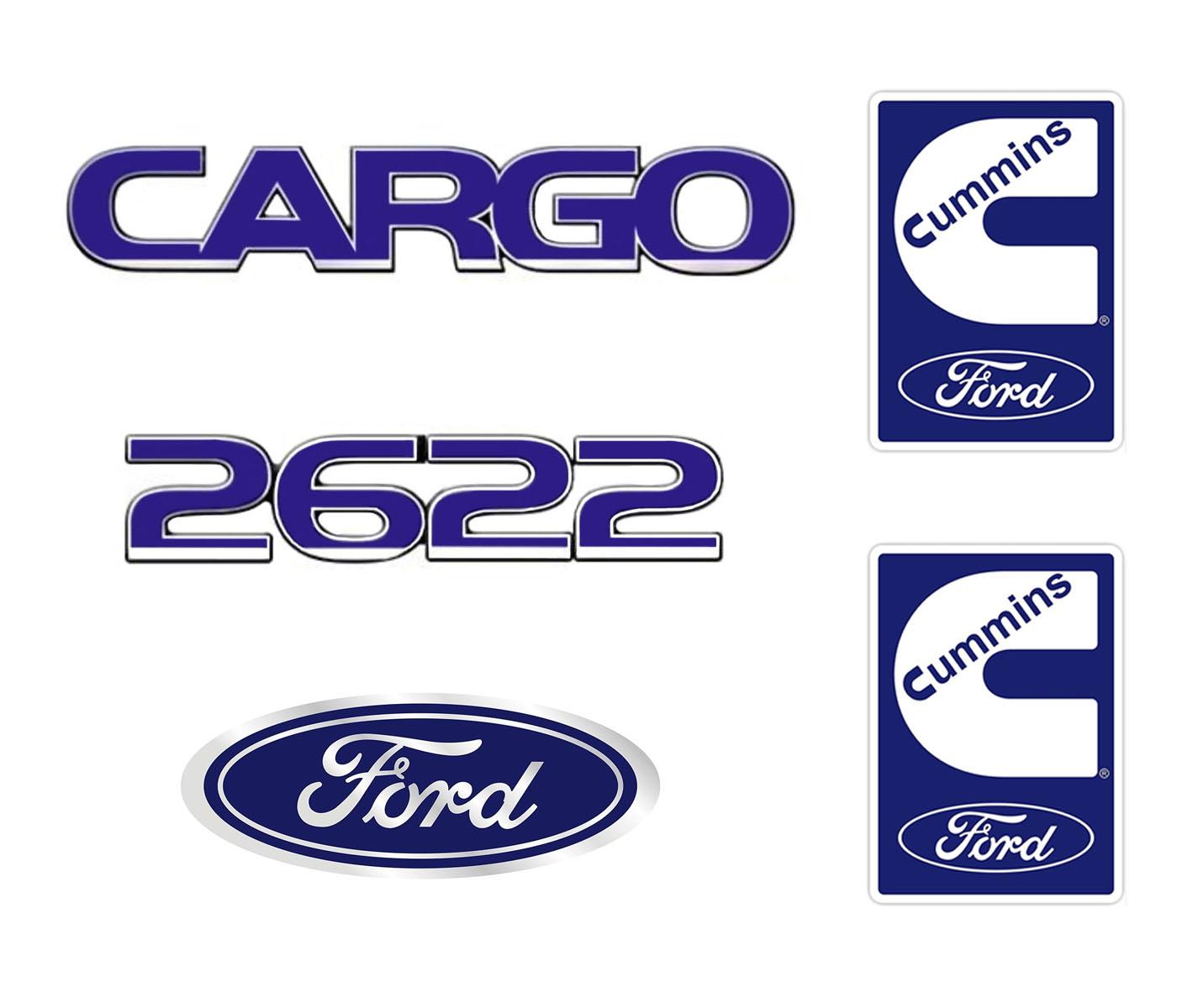 Emblema Ford Cargo 2622 Cummins - Kit