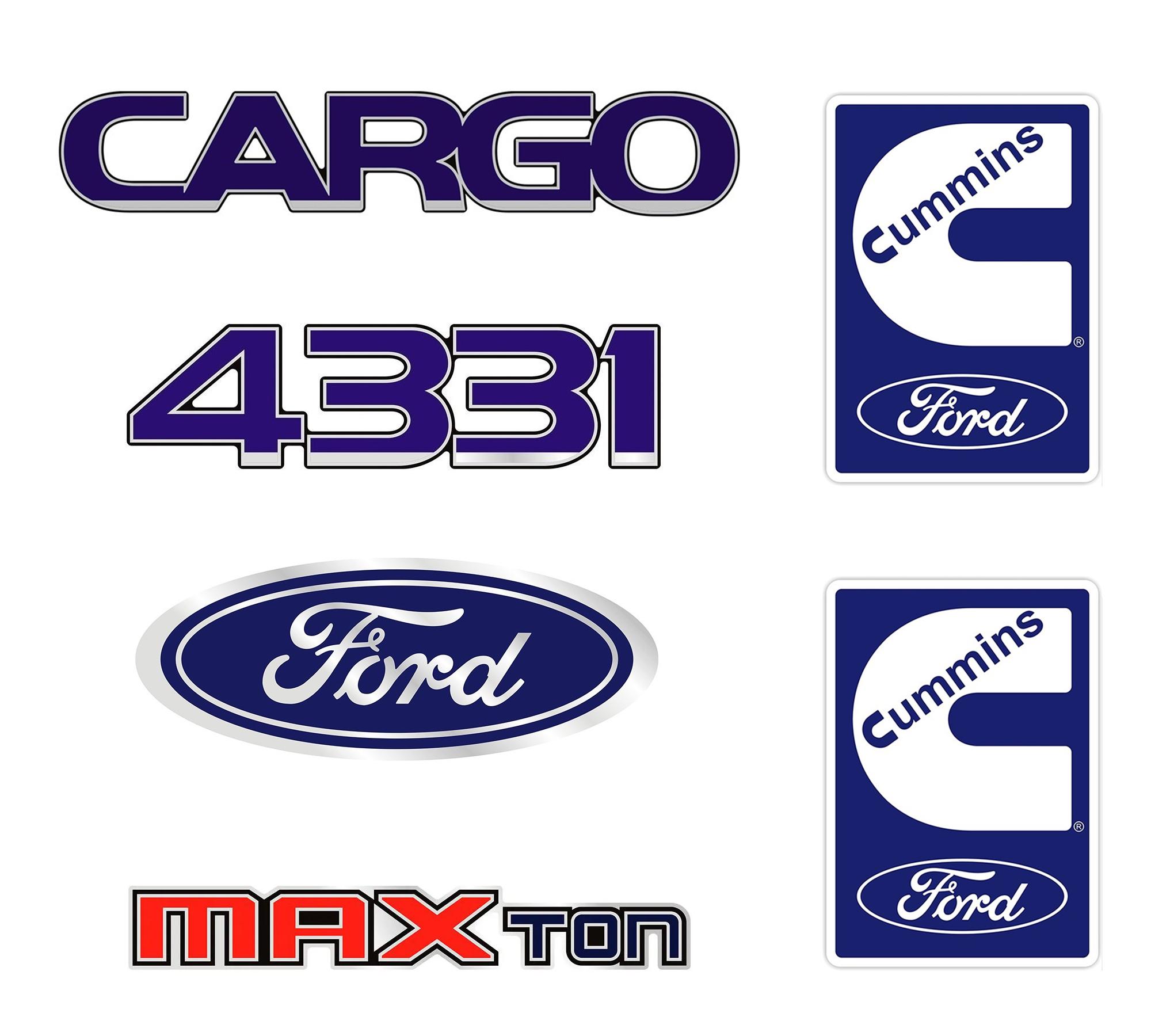Emblema Ford Cargo 4331 Cummins Maxton - Kit