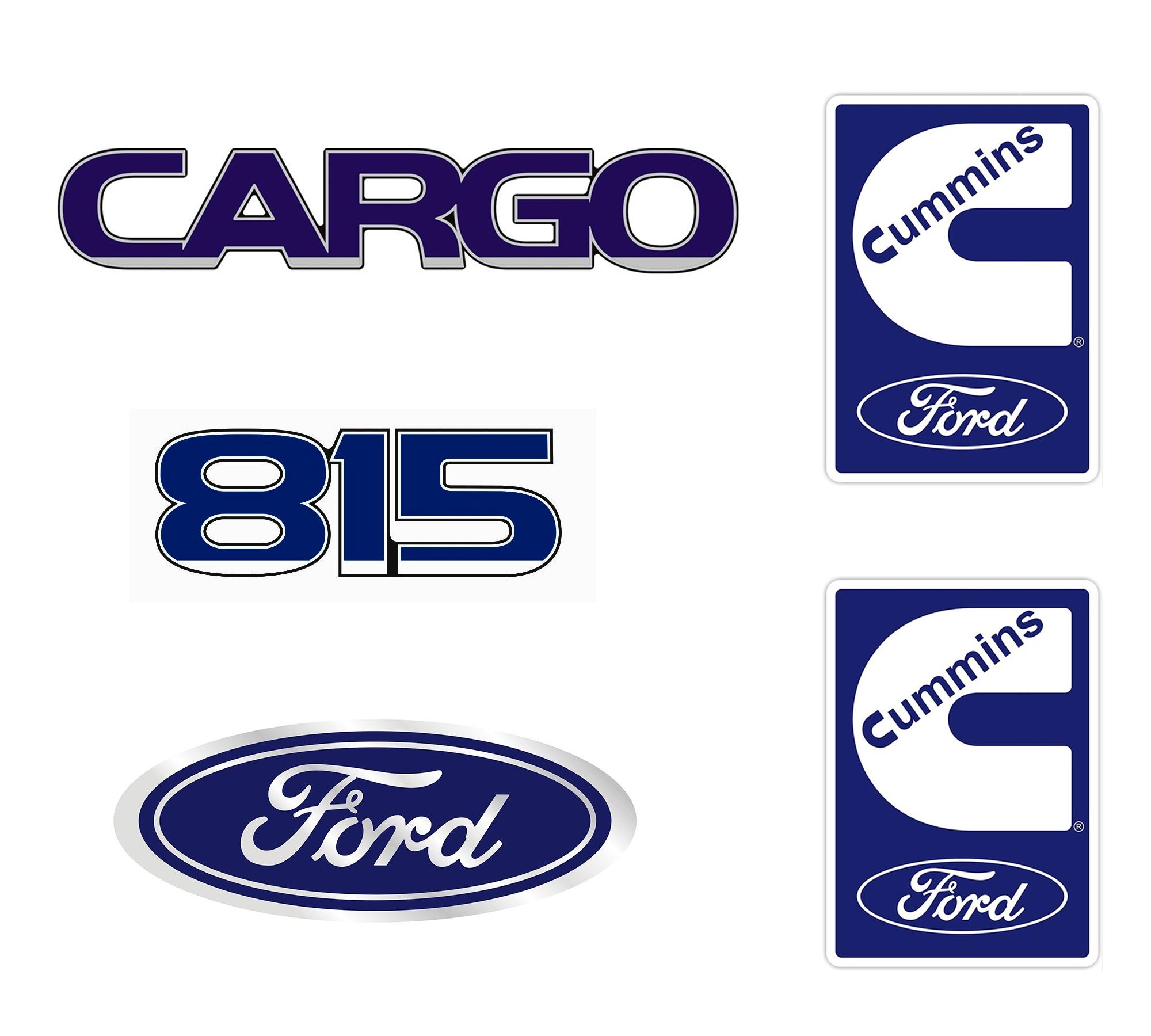 Emblema Ford Cargo 815 Cummins - Kit