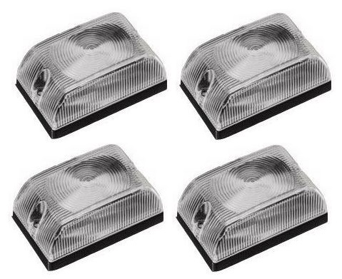 Lanterna Quadrada Baú Caminhão Carreta Cristal Led - Kit