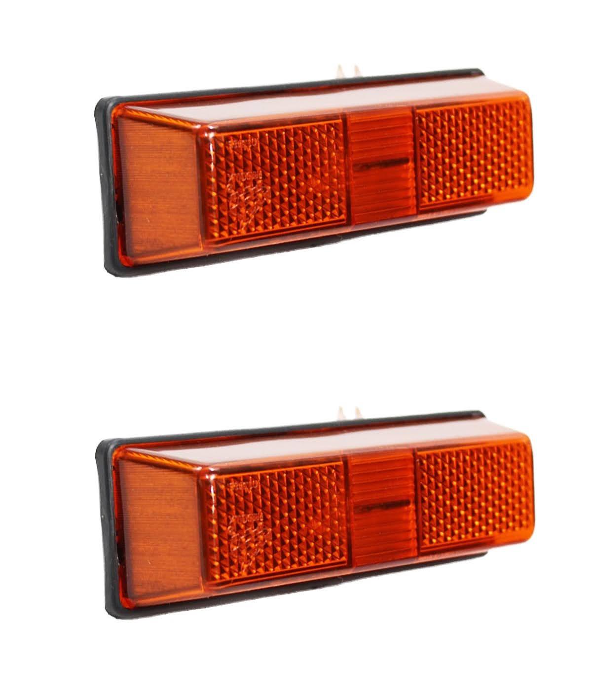 Lanterna Seta Ford Cargo até 2012 (cabine antiga) Amarela - Lateral (Par)