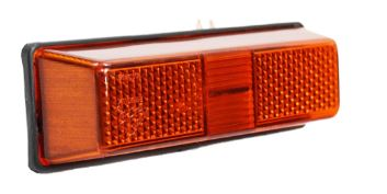 Lanterna Seta Ford Cargo até 2012 (cabine antiga) Amarela - Lateral