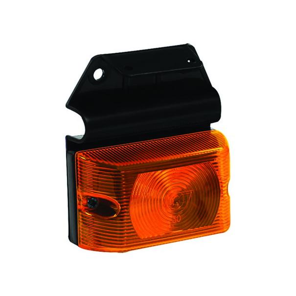 Lanterna Quadrada Baú Caminhão Carreta - Com Suporte