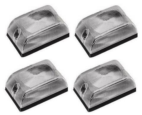 Lanterna Quadrada Baú Caminhão Carreta Cristal - Kit