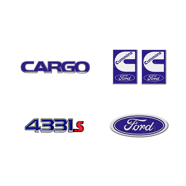 Emblema Ford Cargo 4331E Cummins - Kit