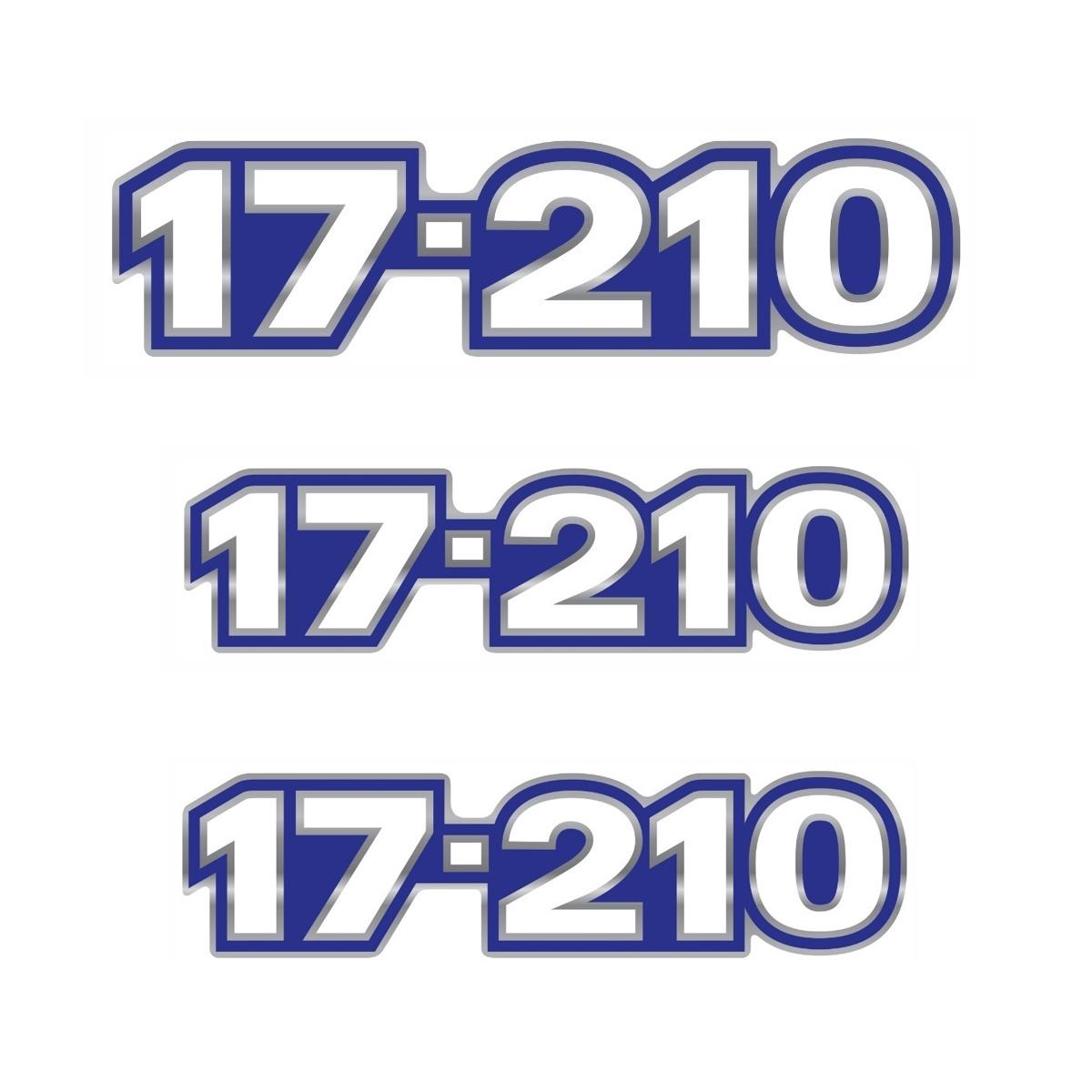 Emblema Caminhão Vw 17210 - Kit