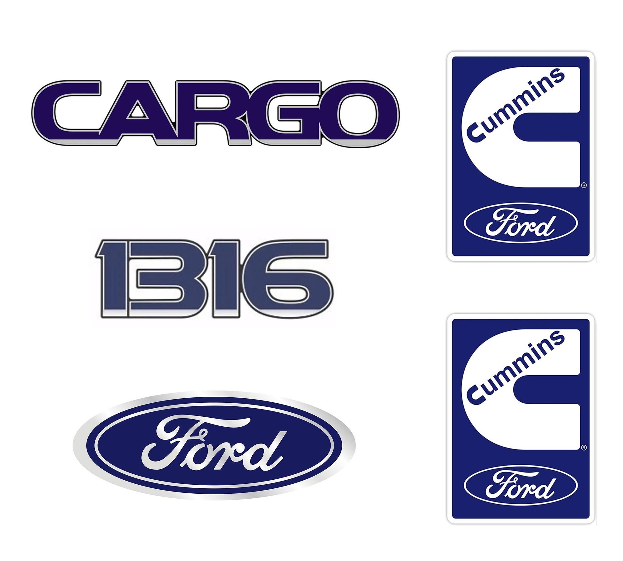 Emblema Ford Cargo 1316 Cummins - Kit