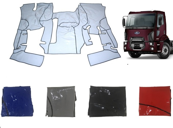 Tapete Ford Cargo 1319 1519 1719 1723 1729 1933 2623 3133 De 2012 Em Diante (Cabine Simples) Com Capô