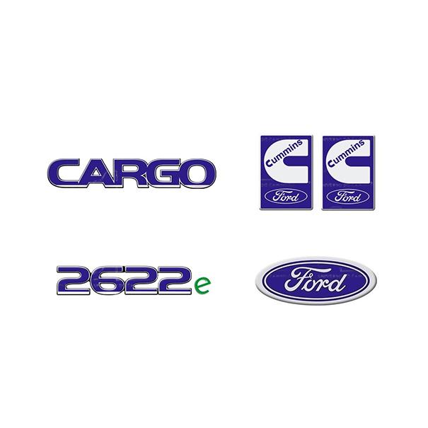 Emblema Ford Cargo 2622E Cummins - Kit