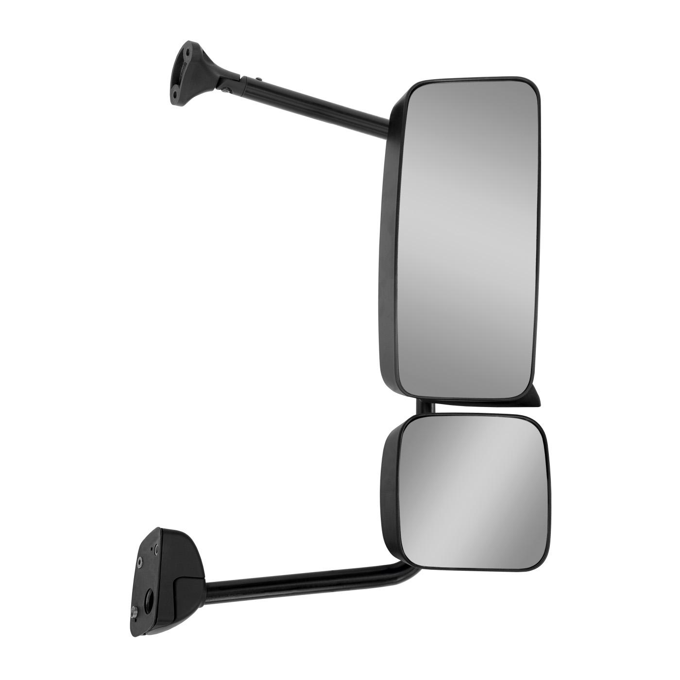 Espelho Retrovisor Mb Axor Atego Até 2012 Manual Sem Desembaçador Com Suporte E Auxiliar - Direito