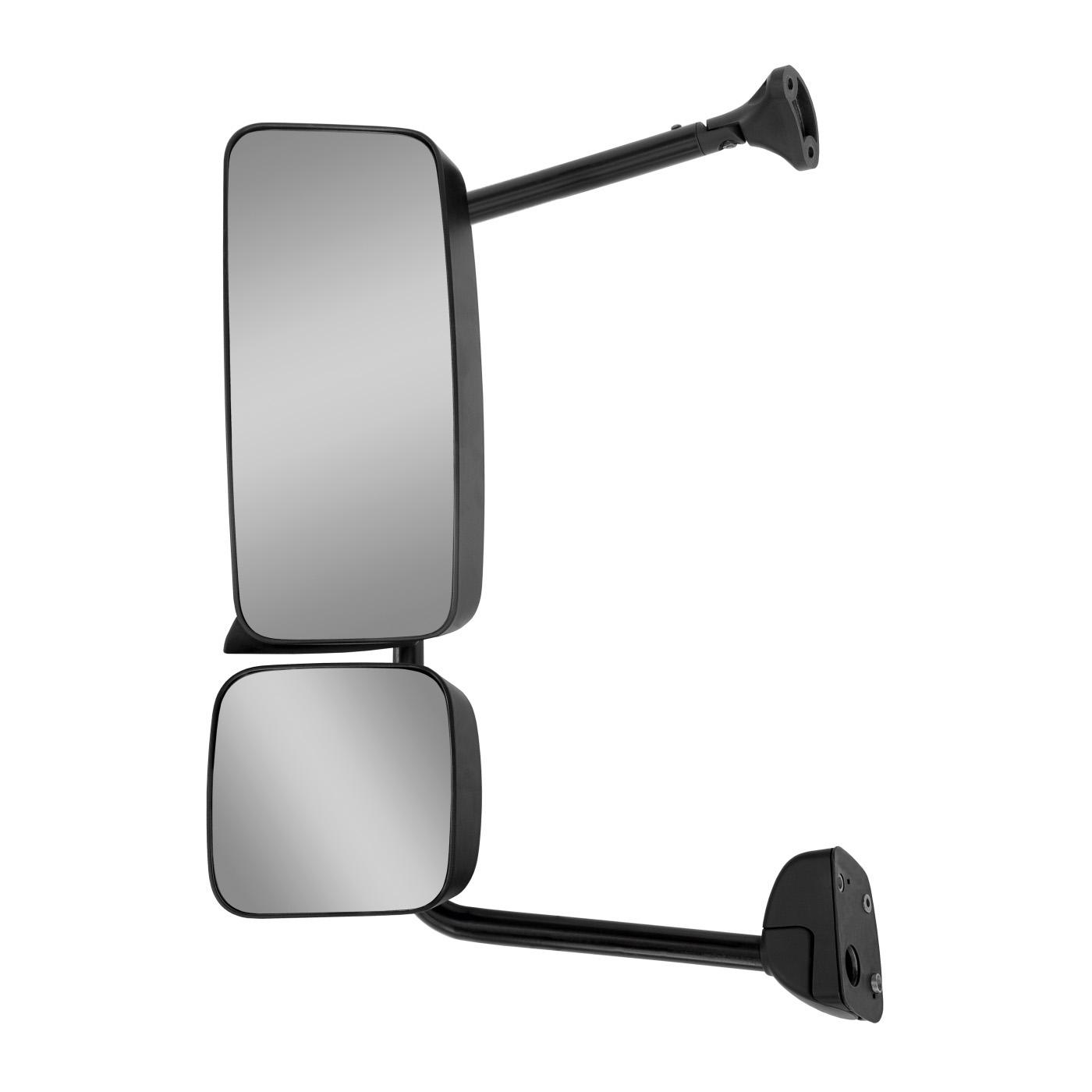 Espelho Retrovisor Mb Axor Atego Até 2012 Manual Com Desembaçador E Auxiliar - Direito