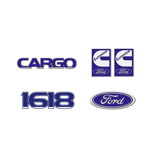 Emblema Ford Cargo 1618 Cummins - Kit