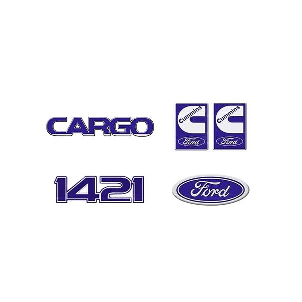 Emblema Ford Cargo 1421 Cummins - Kit