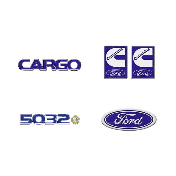 Emblema Ford Cargo 5032E Cummins - Kit