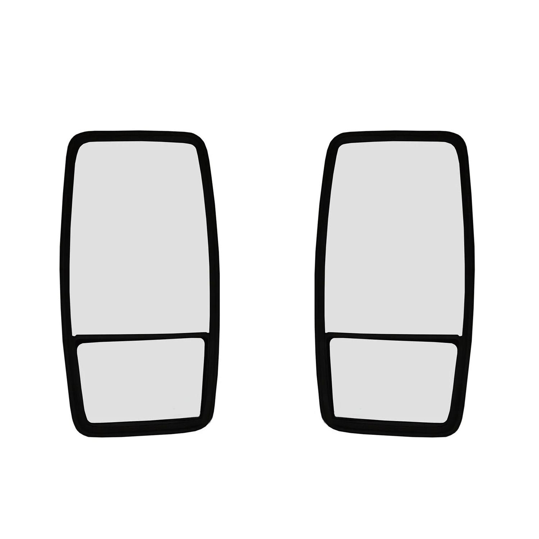 Espelho Retrovisor Mb 1113 1114 1116 1313 1314 1316 1318 1513 1516 1518 1519 1932 1934 2013 2213 2318 2325 - 37X20Cm Bipartido (Par)